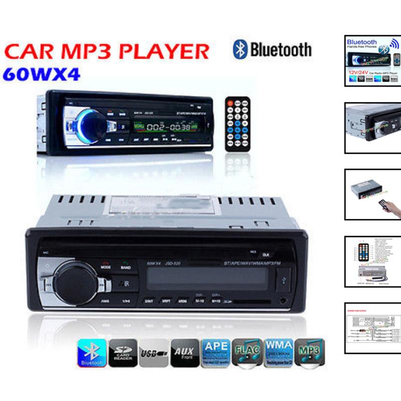 2015 new 12V Car tuner Stereo bluetooth FM Radio MP3 Audio Player Phone USB SD MMC