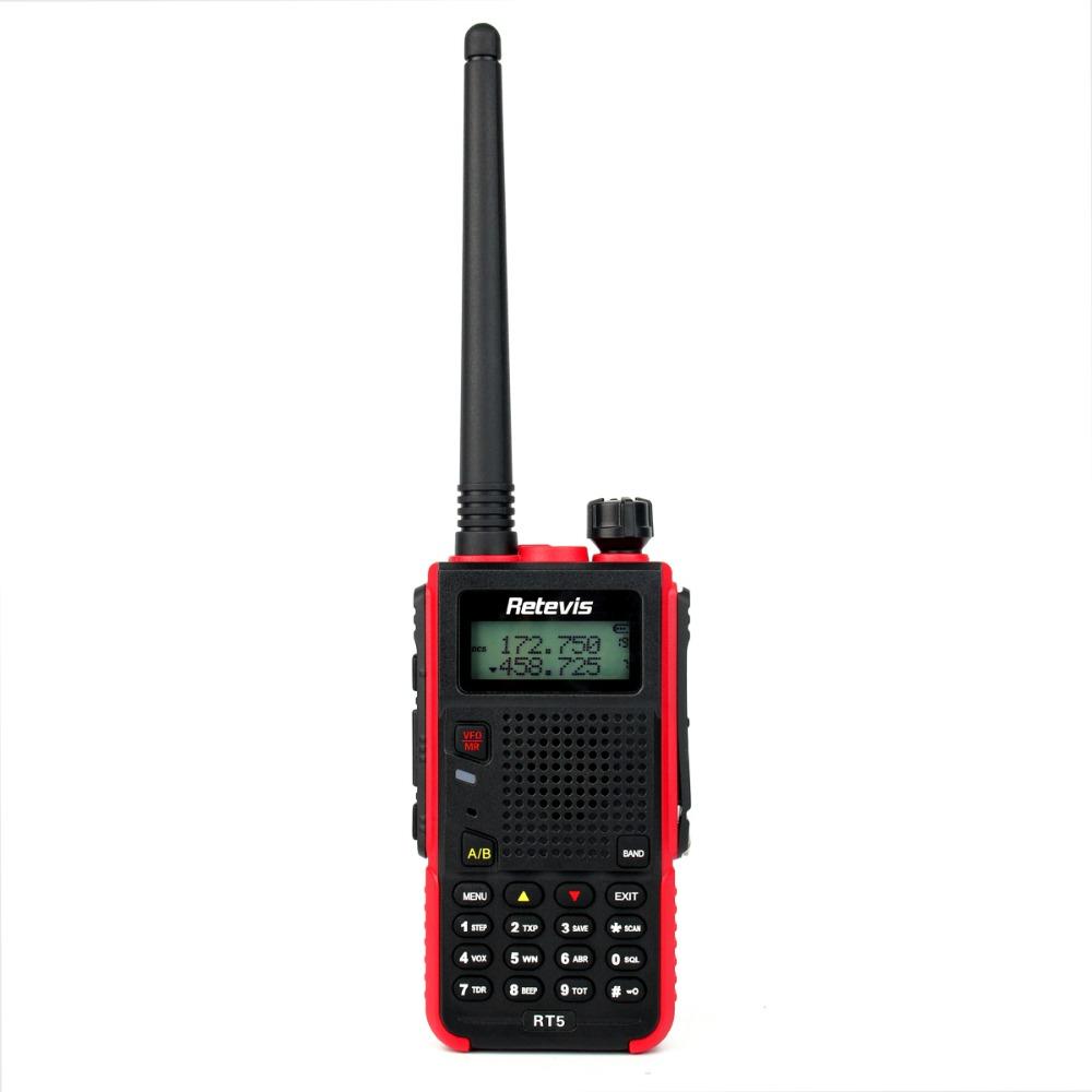 Walkie Talkie Retevis RT5 Dual Band VHF/UHF136-174+400-520MHz 5W 128CH Scan VOX DTMF FM Radio 1750Hz Two Way Radio A9108A(China (Mainland))