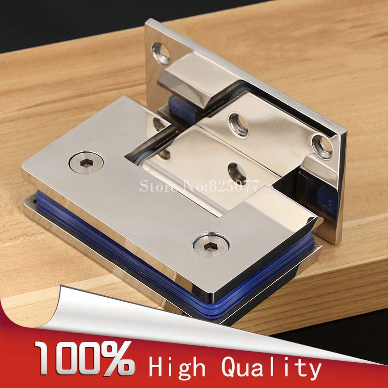 10 years Warranty Wall to Glass Offset Square Geneva Cutout Frameless Shower Door Hinge - Polished Chrome HD18(China (Mainland))