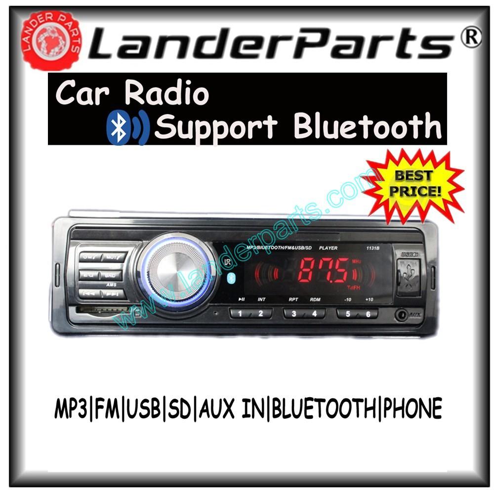 2015 new support bluetooth car mp3 player,Car Radio,Audio 1 din 12V stereo,FM,SD card,USB Port,w/remote control aux in 1131B