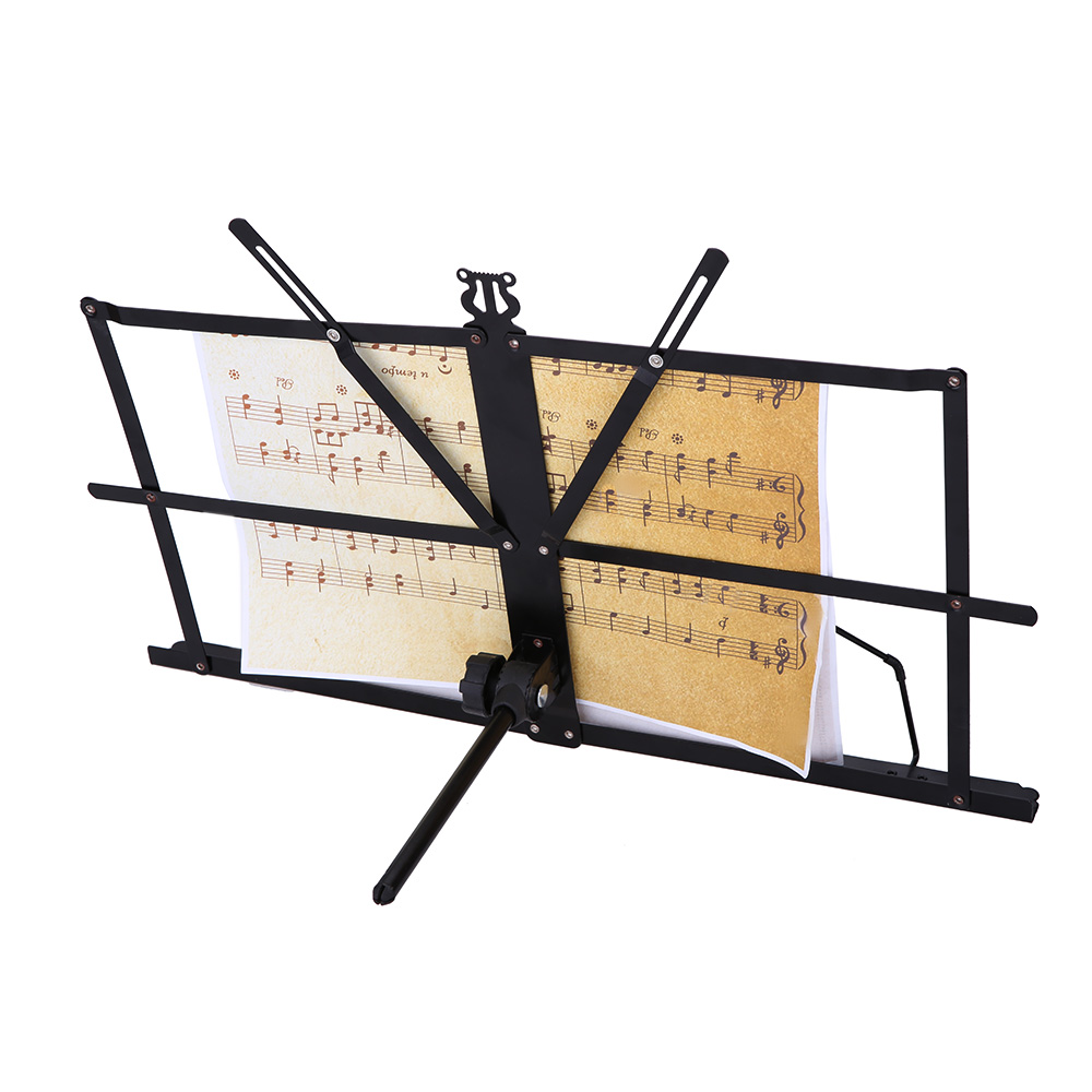 Professional Folding Music Stand Metal Sheet Music Holder Foldable with Waterproof Carry Bag Musical Instruments Accessories(China (Mainland))