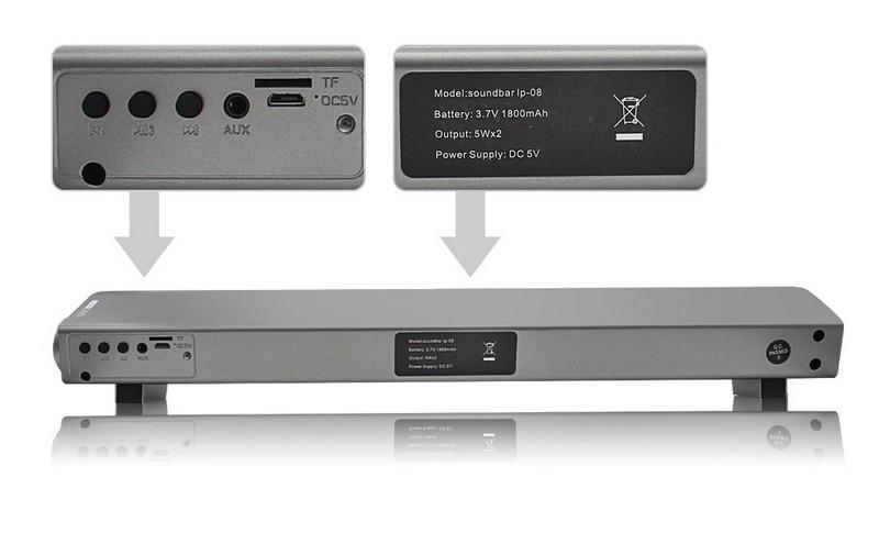 ถูก ไร้สายเสียงบาร์บลูทูธลำโพงแบบพกพาลำโพงสเตอริโอSound Barสำหรับทีวีคอมพิวเตอร์TF Mp3เล่นAUXแฮนด์ฟรีลำโพง