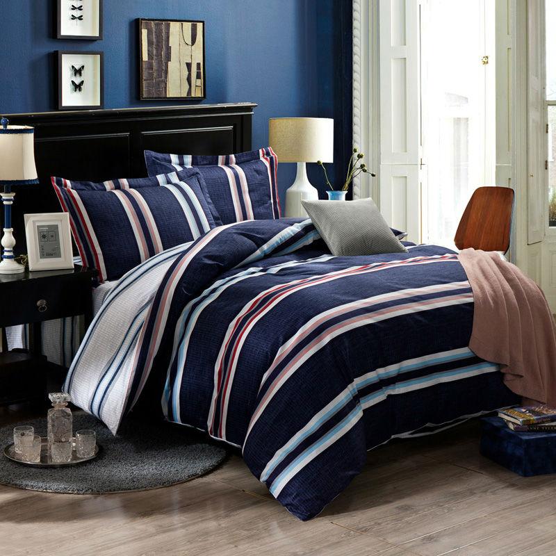 Online Get Cheap Navy Stripe Bedding Aliexpress Com