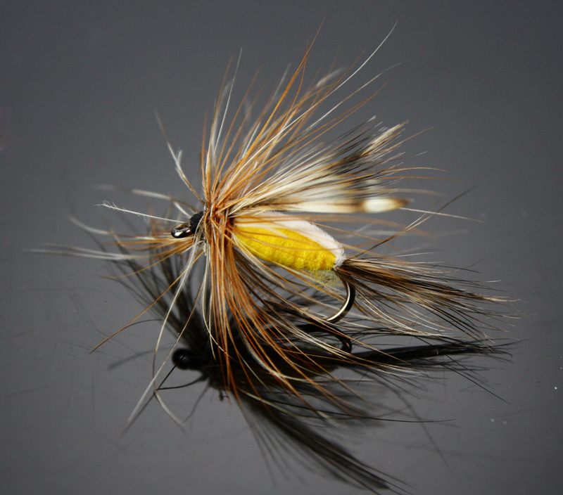 Buy 40pcs humpy dry flies red yellow for Types of fly fishing flies