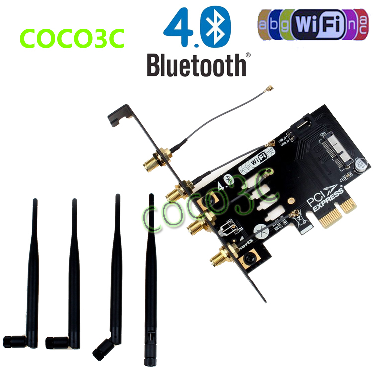 Laptop Wireless Network Card adapter PCI-e to 3G bluetooth 4.0 WIFI BCM94360CD module for macbook Pro/Air(China (Mainland))