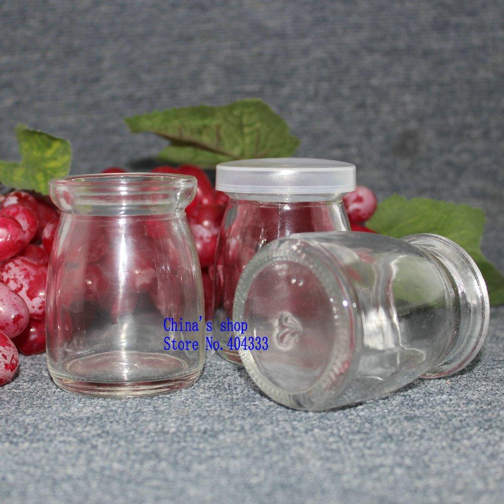 100ml Milk Glass Bottle Pudding Bottle Ice Cream Bottle