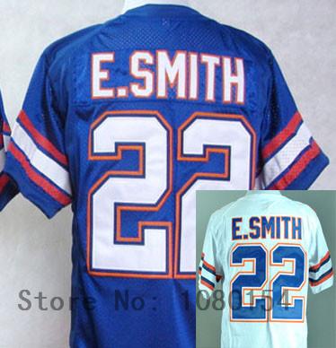 New Style 2014 ,Florida Gators #22 E.Smith Blue White Mens Football College Sports Jerseys,Free Shipping,Embroidery logos(China (Mainland))