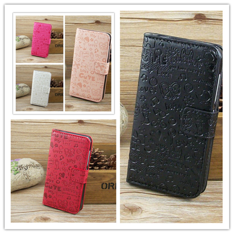 Magic Girl Cute Leather CaseCove with Holder Credit Card For Samsung Galaxy Ace La Fleur free shipping(China (Mainland))