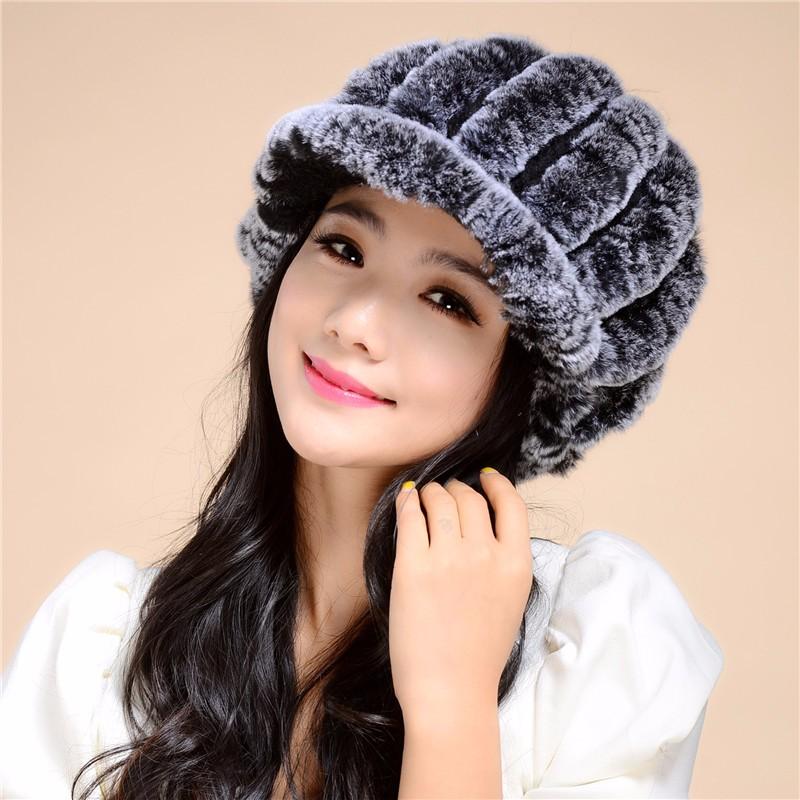 2016 2016 Discount New Fashion the new autumn and winter rex rabbit fur grass lady cap warm winter hat wool capTM27
