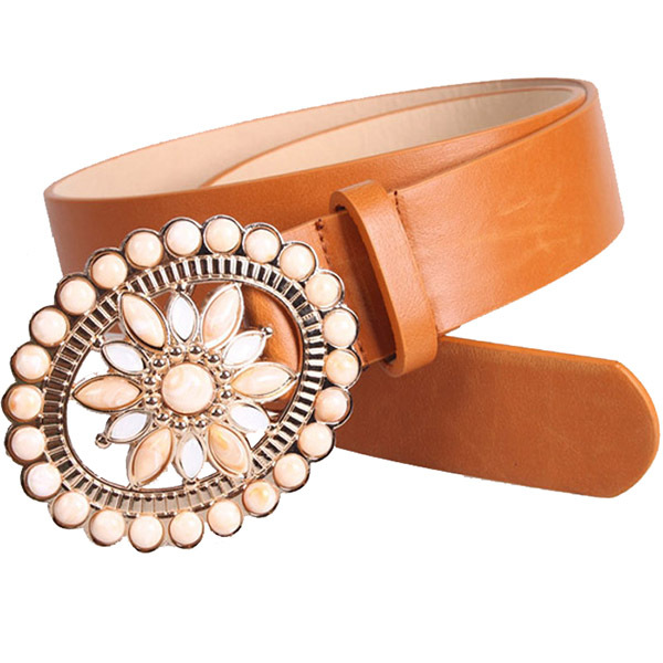 Famous Brand Belts Women Retro Rhinestone New Design Belts Fashion Hollow Flower Country Belt Buckles Waistband For Women BS-135(China (Mainland))
