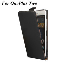 Luxury Genuine Leather case OnePlus Two One Plus two Magnetic Buckle Vertical Flip black Mobile Phone Cover - ACR-RCOVER Store store