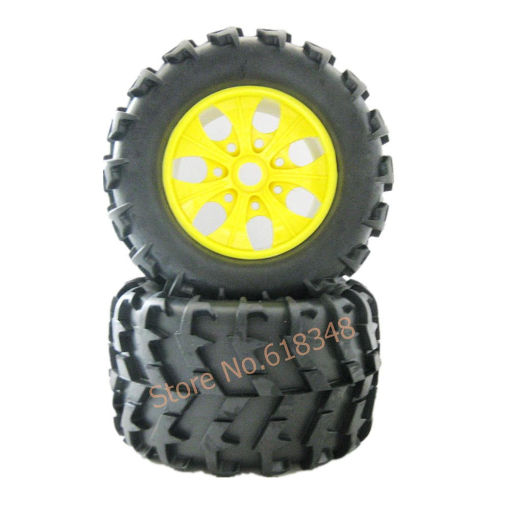 1/8 RC MONSTER TRUCK PAIR WHEEL COMPLETE 810005 AMAX HIMOTO HSP 150MM*80MM Hexagon adapter 17MM