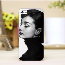 pz0006-2-1-3 Audrey Hepburn Design cellphone cases For iphone 4 5 5c 5s 6 6plus Shell Hard Lucency Skin Shell Case Cover