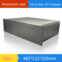 Buy DIY case size 482*132*320mm 19-inch 3U aluminum chassis / Instruments chassis /amplifier case /AMP Enclosure / case / DIY box for $98.93 in AliExpress store