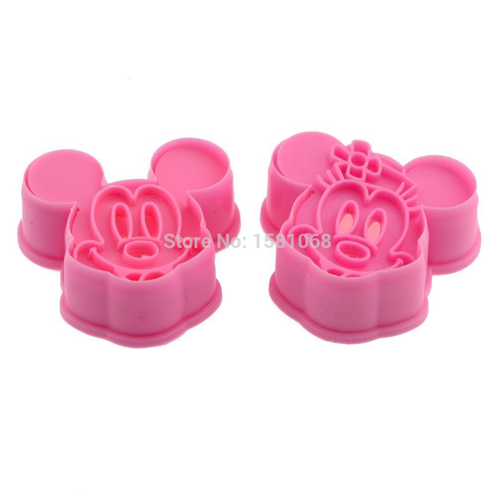 2pcs Mickey Minny Mouse Fondant Cake Cookie Biscuit Cutter Mold Mould Tools Set(China (Mainland))