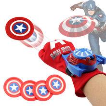 Superhero Avenger Luva Lançador Compatibie Legoings maravilhou Kit de Blocos de Construção DIY Brinquedos para Crianças Presentes de Aniversário de Natal(China)