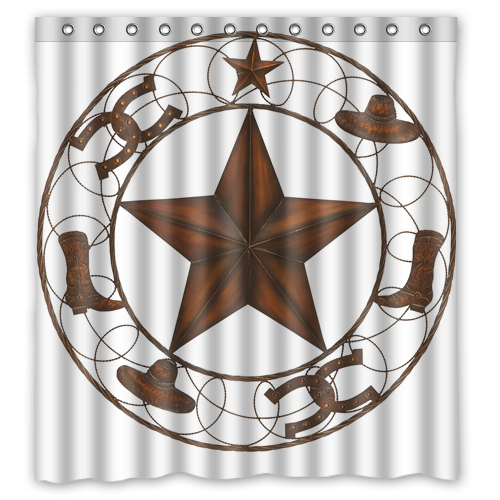 "ANW Western Texas Star Custom Shower Curtain 66 ""x72"" Waterproof Fabric Shower Curtain for Bathroom(China (Mainland))"