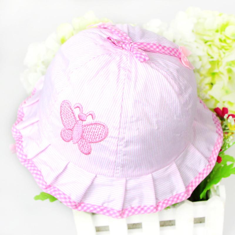 1PCS Free Shipping New 2014 Fashion Infant Visor Sun Hats Caps Soft Cotton Baby Sun Hats Children Girls Sun Polka Dot Hat#L03096(China (Mainland))