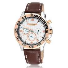 Men ' s reloj de pulsera de julio cuarzo horas mejor vestido de moda de corea pulsera de cuero a estrenar Sport reloj redondo JAH061