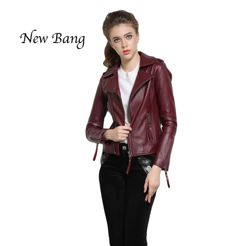Red Leather Bomber Jacket Women - My Jacket