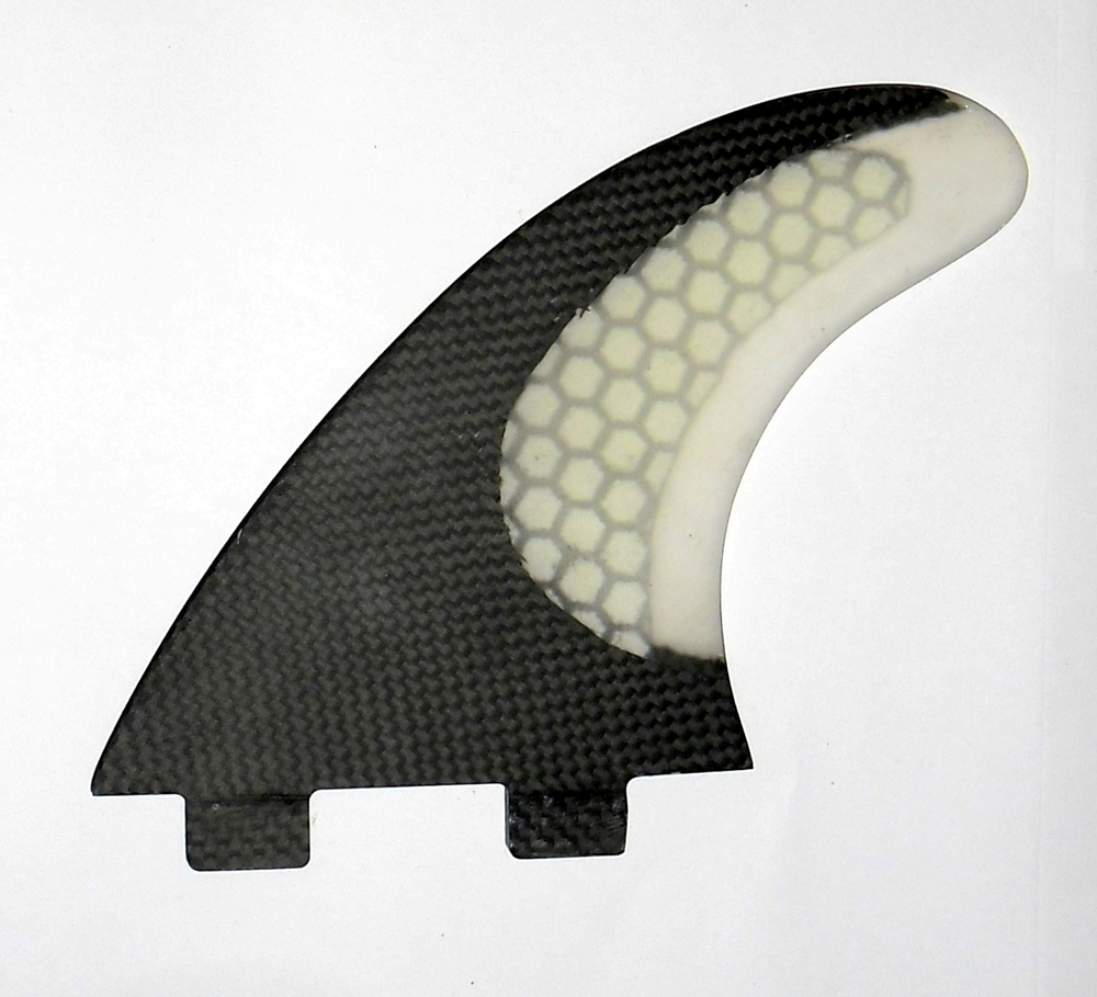 Surfboard Fiberglass Honey Comb & Half Carbon Fiber FCS 3 fin set