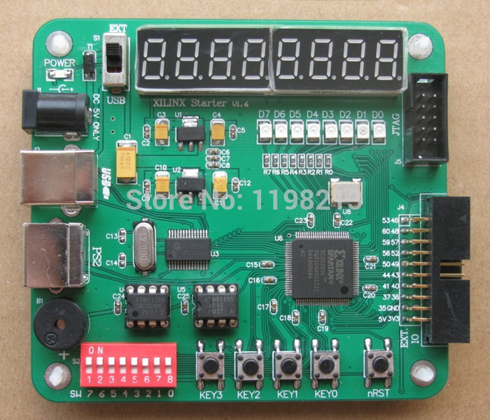 Осциллограф BARRY XILINX FPGA ABC richData XILINX FPGA 98 xilinx fpga development board xilinx spartan 3e xc3s500e evaluation kit dvk600 xc3s500e core kit open3s500e standard
