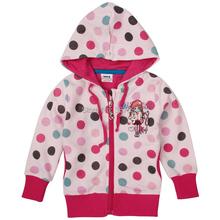 NOVA kids wear coat girls printed beautiful polka dot zipper girls jacket hoodies children outerwear brand F3453(China (Mainland))