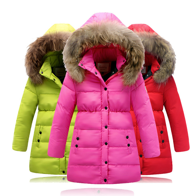 fashion winter jacket for girl down jackets coats warm kids baby thick duck down jacket children. Black Bedroom Furniture Sets. Home Design Ideas