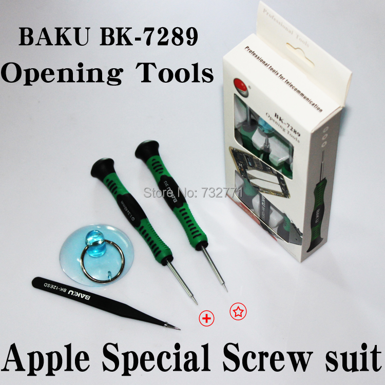 BAKU BK-7289 Opening Tools Set for iPhone 4 4S 5 5S Repair, Professional Screwdriver Tool Kit for Teardown, 4 in 1<br><br>Aliexpress
