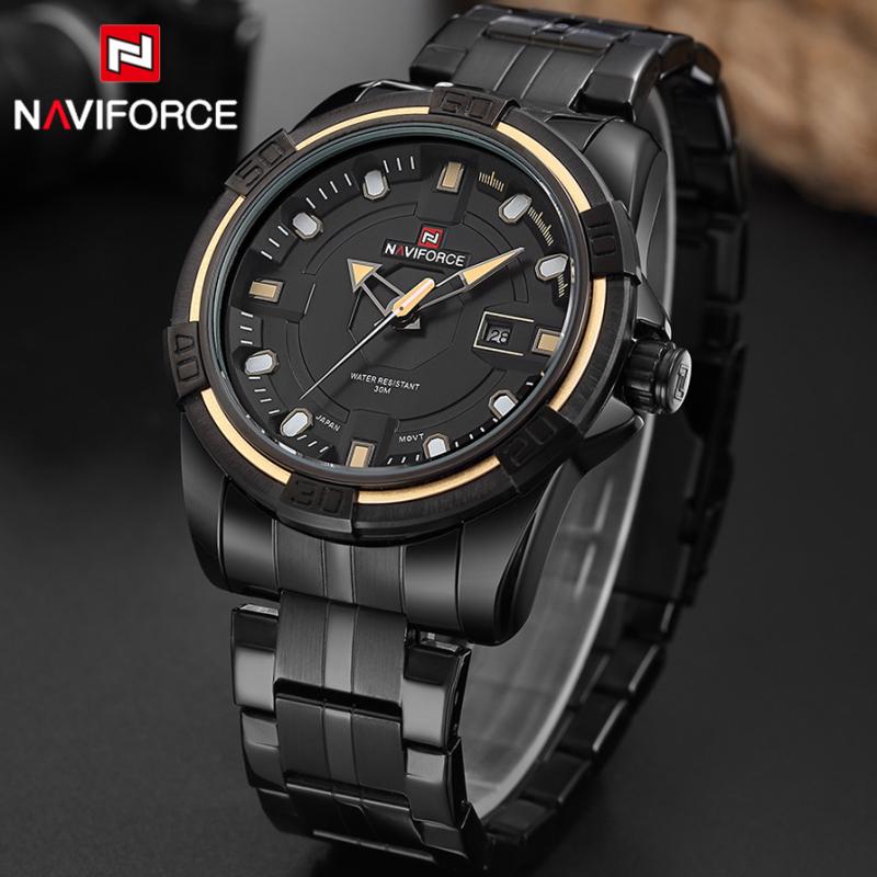 NAVIFORCE Men Luxury Brand Full Steel Army Military Watches Men's Quartz Hour Clock Watch Sports Wrist Watch Relogio Masculino(China (Mainland))