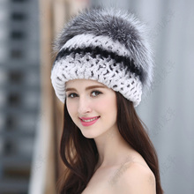 lisidun2016new mink skin princess cap fox fur hat bag turban winter casual ladies warm real fur hat(China (Mainland))