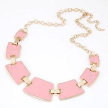 Punk Geometric Necklaces Pendants Collier Femme Gold Enamel Fashion Statement Choker Collares Femininos for Women Jewelry
