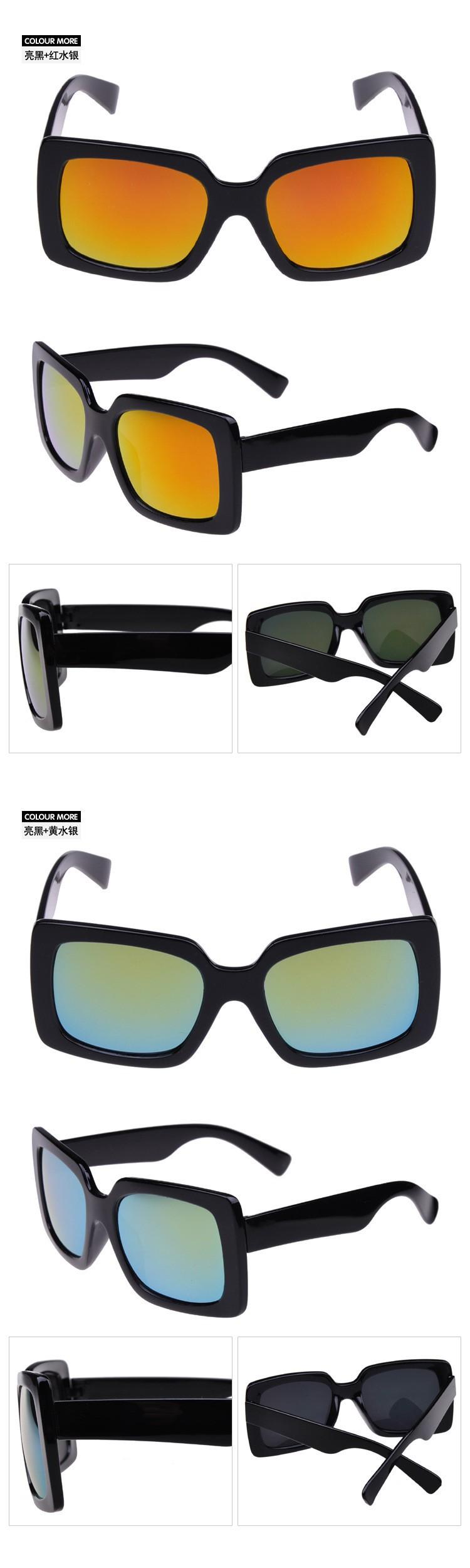 Men Women Sunglasses 2015 New Square Vintage Style Glasses Oculos De