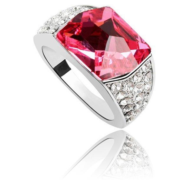 Bague Fiancaille Femme Swarovski : Ruby jewelry australia crystal from swarovski elements