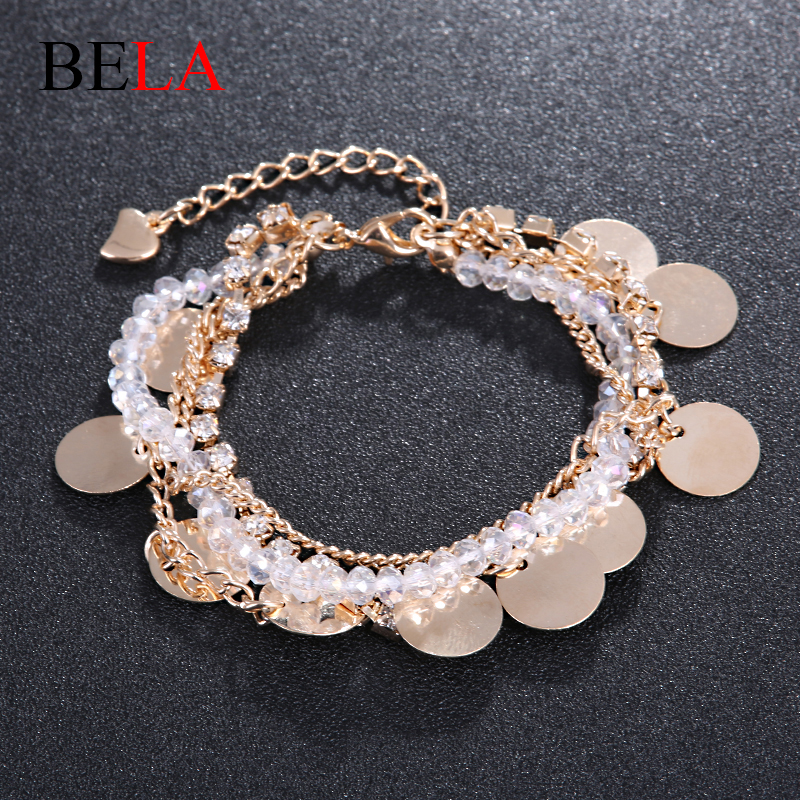 Jewelry Bracelets Bangles 18K Gold Plated Charms Bracelets Jewelry Loom Bands Multi-fitting Fringed Bracelet for Woman WS4098(China (Mainland))