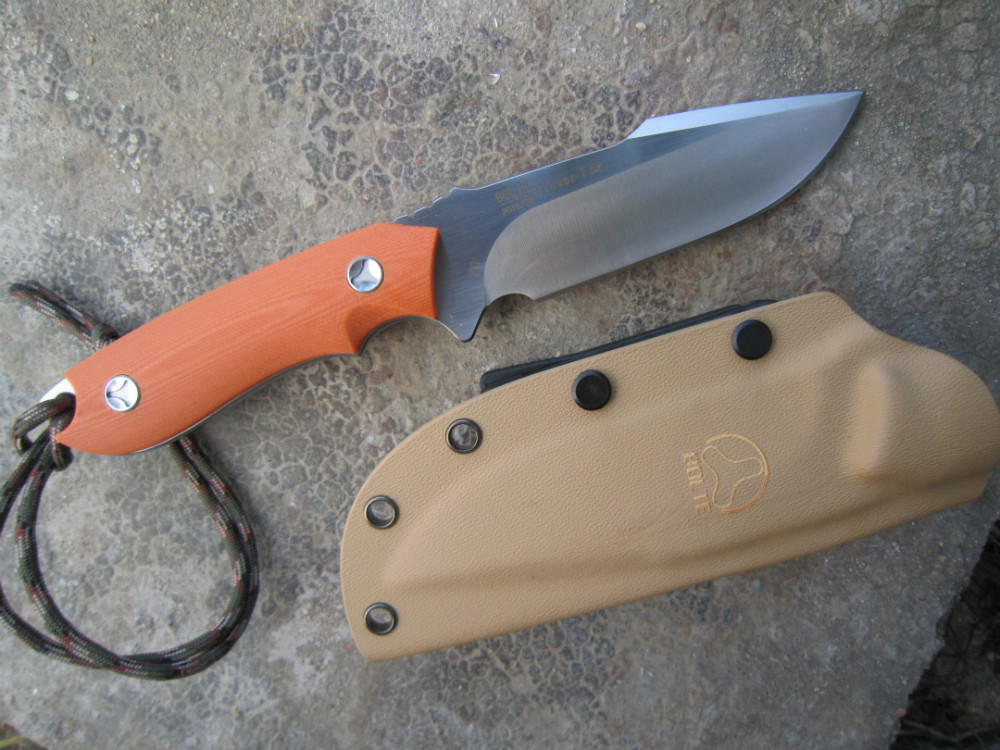 BOLTE Sliver Fox D2 Stainless knife 60HRC G-10  orange handle outdoor camping knife<br><br>Aliexpress