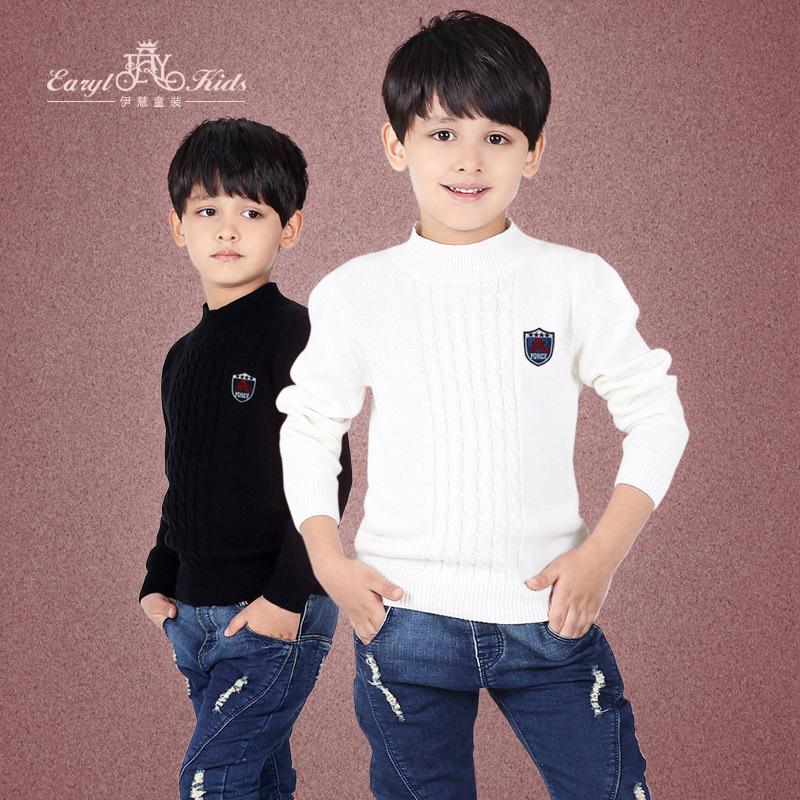 Children's wear boy's sweater collar children line unlined upper garment sweater sweater of the girls(China (Mainland))