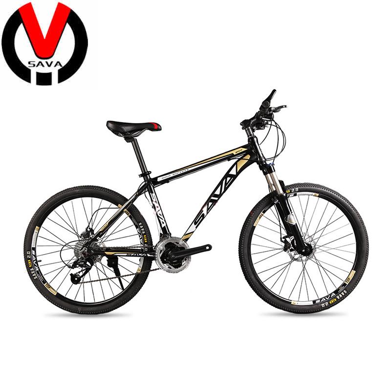 SAVA 27 Speed Unisex Mountain Bike 26 inch Bicycle Bikes For Women Men Bicicleta Aliuminum Alloy Mountain Bike Wholesale(China (Mainland))