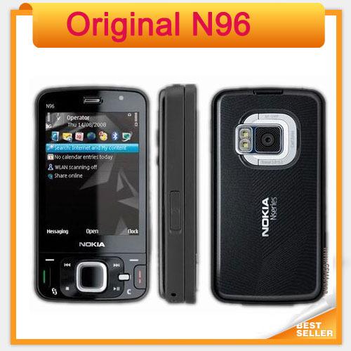 N96 Original Mobile phone Nokia N96 16GB Storage 3G WIFI GPS Camera 5MP(China (Mainland))