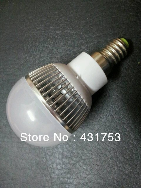 Free shipping 5x CREE High Power E14 3*3W Led Bulb Lamp AC85~265V CE&ROHS Cool/Warm white 2 Years warranty 9W Led Light Bulb