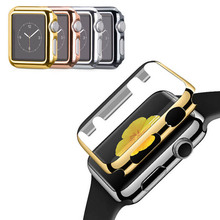 Amazing Hot 42mm 38mm Screen Protector Ultra-Thin Slim Electroplate Metal Plated Hard Case For Apple Watch Plating Cover
