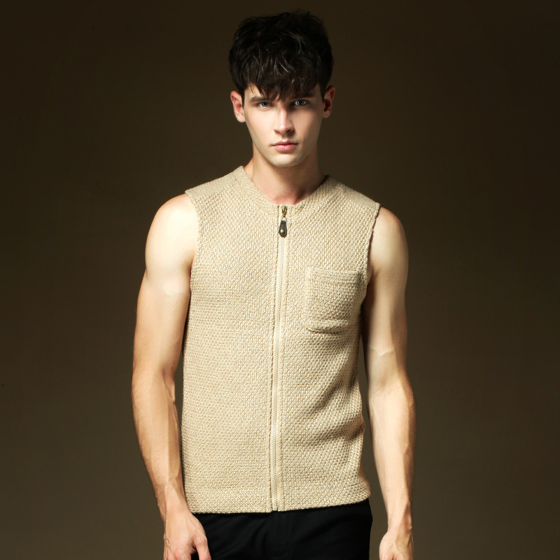 Sleeveless Cardigan Vest Mens - Cardigan With Buttons