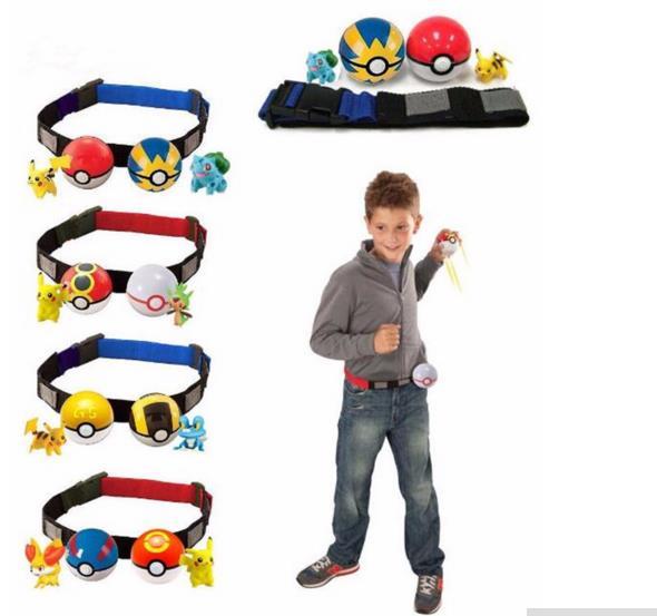 2016 New Play Game Pokemon Clip n Carry Kids Poke Ball Belt Pretend Adjustable Xmas Gift Free Shipping(China (Mainland))