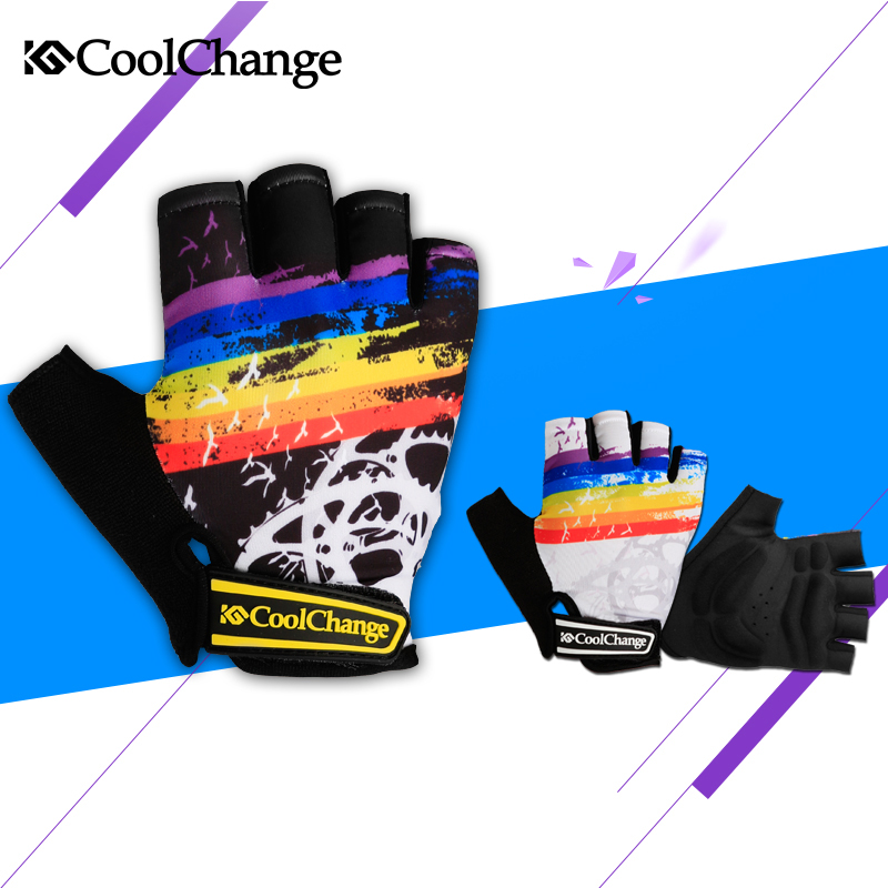 CoolChange Cycling Gloves Half Finger Mens Women's Summer Bike Bicycle Gloves Nylon Sport Mountain Bike Gloves Guantes Ciclismo(China (Mainland))