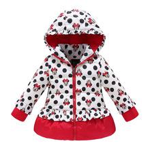 girls winter coat children cute polka dot hooded down jacket outerwear kids girl warm clothing baby