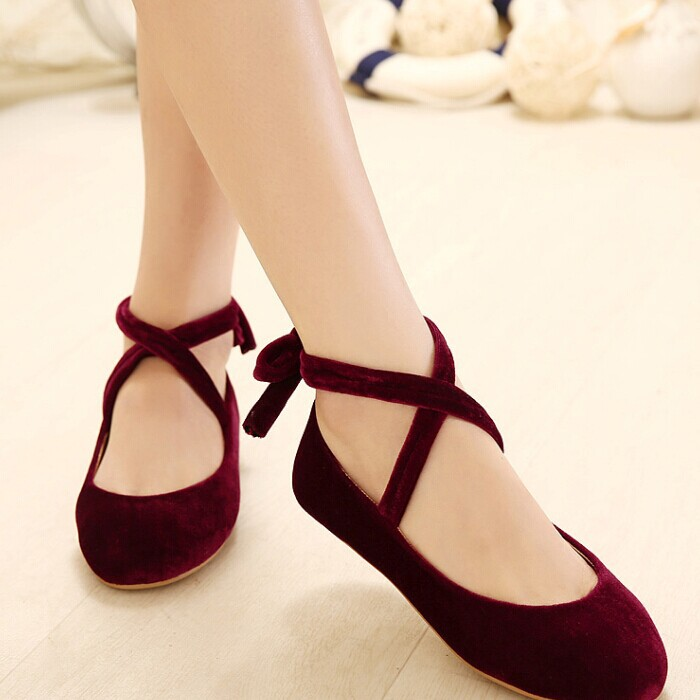Fashion Style Suede Genuine Leather Ballerina Dolly Women Flats Ballets Shoes Loafers Princess Comfortable Sole Lolita Shoes<br><br>Aliexpress