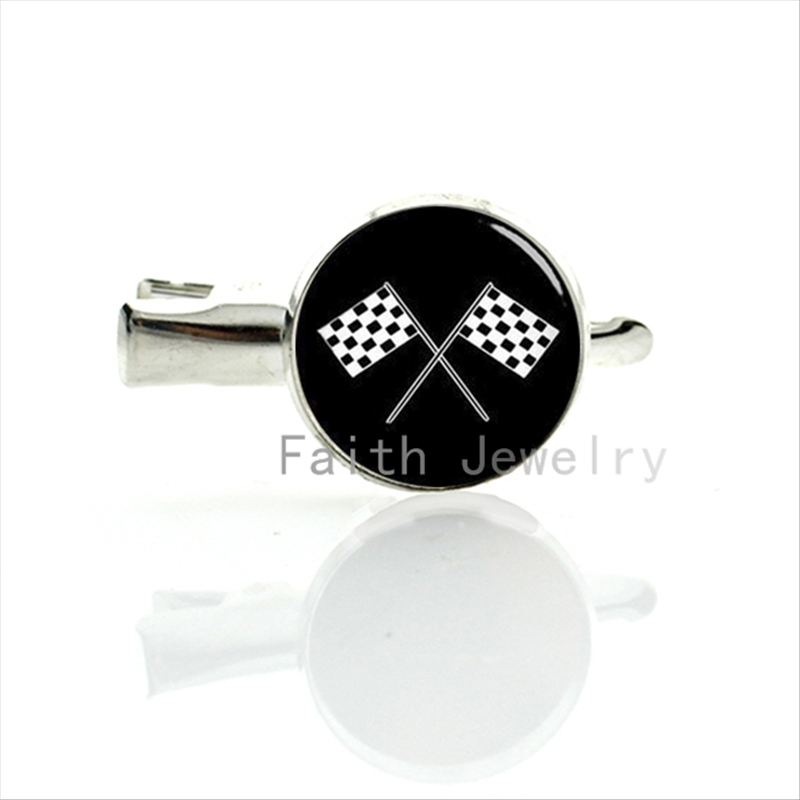 Cool Racing font b Chequered b font Flag hairgrips classic 4 checkered flags hairpin fashion sports