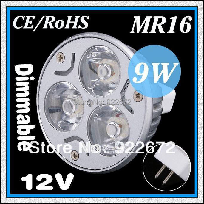 Factory directly sale CREE MR16 3W 9W 12W 15W 18W 12V Dimmable led Light lamp Bulb led Downlight spotlight Led Bulb free ship(China (Mainland))