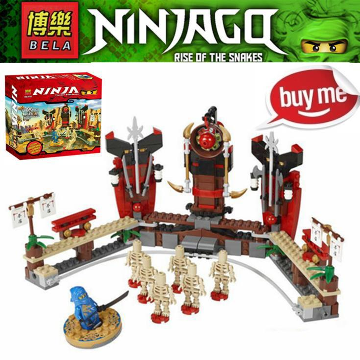 BELA 320pcs Phantom Ninja Ninjago SKELETON BOWLING Masters Of Spinjitzu Minifigures Building Blocks Compatible for Lego