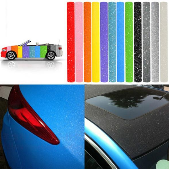 New Car Styling Matte Frosted Glitter Vinyl Film Body Wrap Roll Sticker 152cm*30cm Waterproof DIY Decal Free Shipping(China (Mainland))